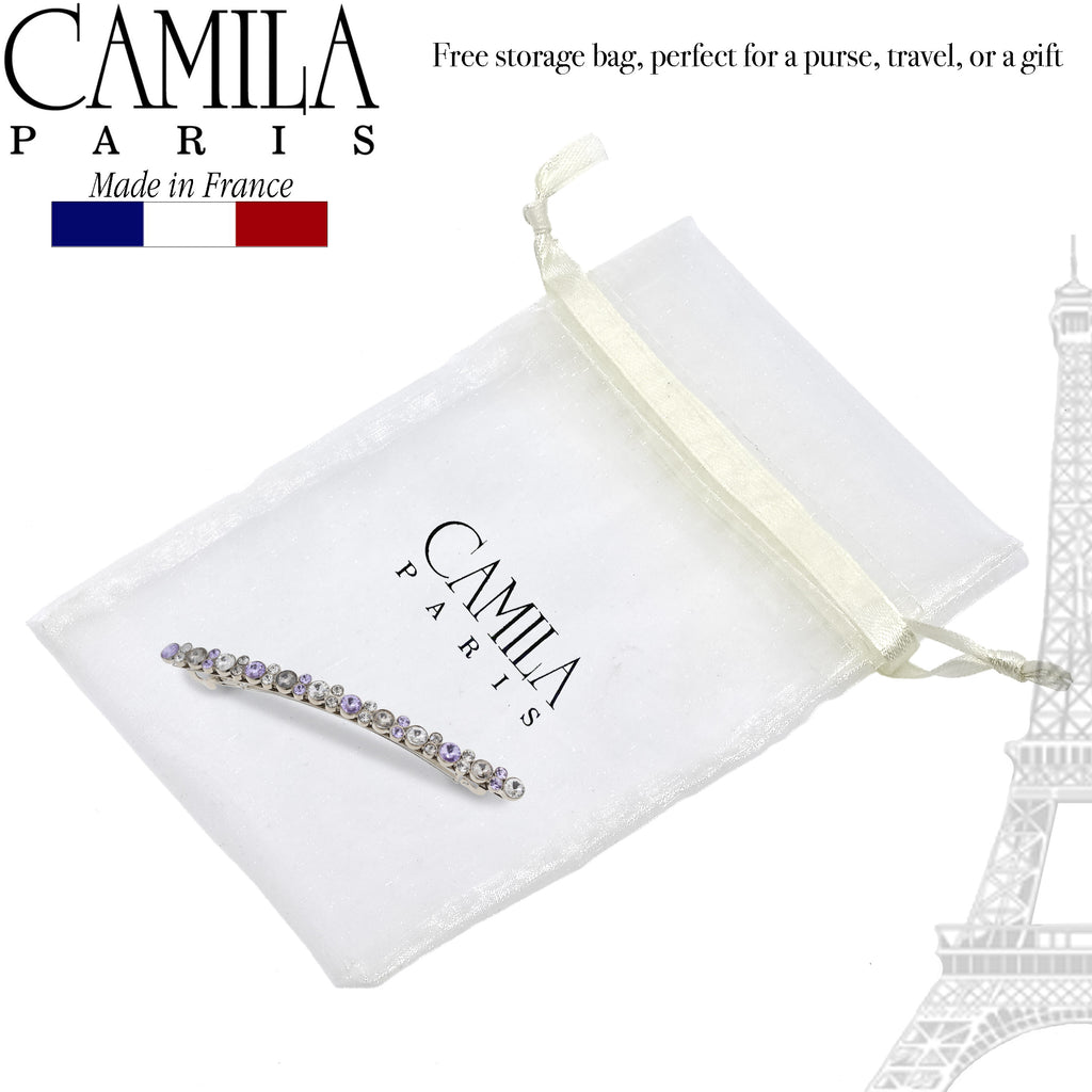 Camila Paris GA268 Skinny Handmade Medium Hair Slide Clip Barrette