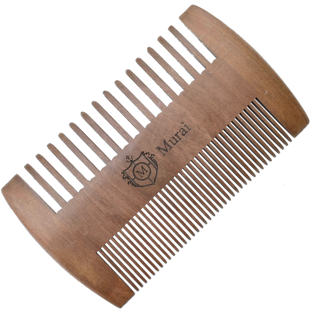 Giorgio GIOWC Wooden Beard Mustache Combs for Men, Fine and Wide Tooth