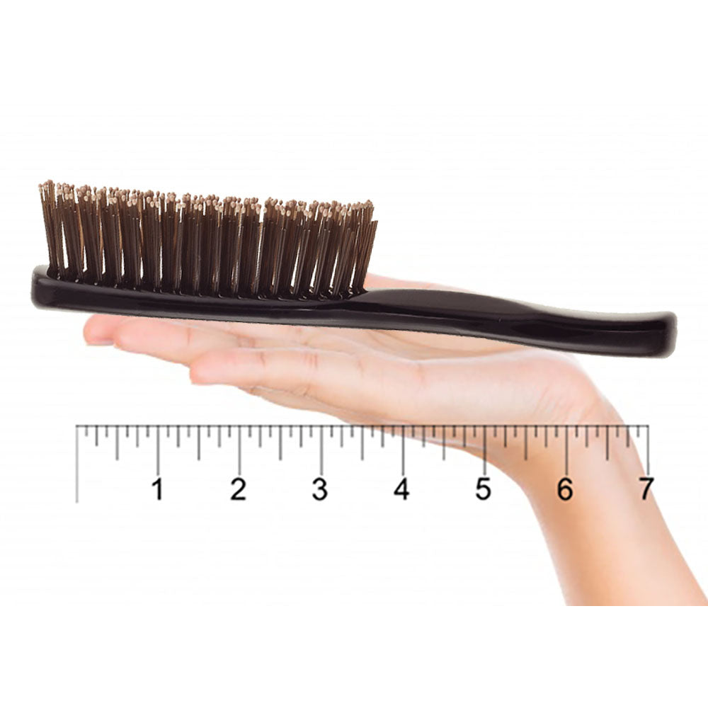 Giorgio GIO1-2BLK Black Set of 2 Gentle Touch Detangler Hair Brush for Men Women and Kids. Soft Bristles for Sensitive Scalp. Wet and Dry for all Hair Types. Scalp Massager Brush Stimulate Hair Growth