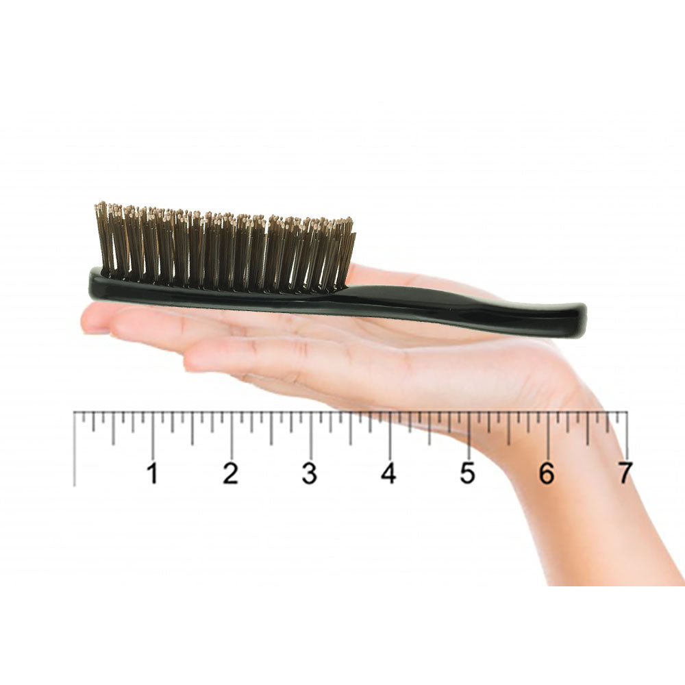 Giorgio GIO1-2BLK Black Set Gentle Hair Brush Dresser & Travel Size.
