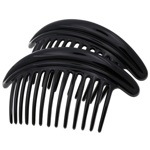 Camila Paris CP2785 Volume Black French Hair Barrette Oval Rubberized