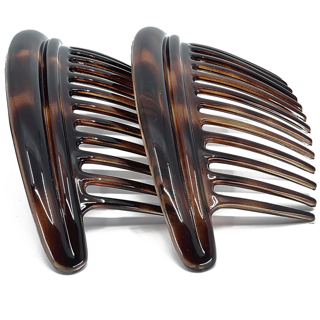 Camila Paris MP979-2 Tortoise Sell French Hair Side Comb Interlocking