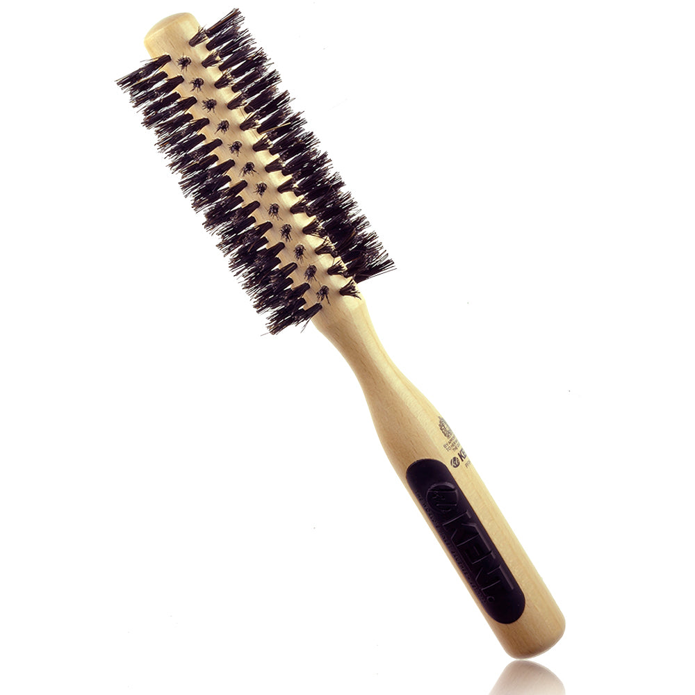 Kent NS04 / PF04 Natural Shine, Pure Boar Bristle, Radial Hair Brush