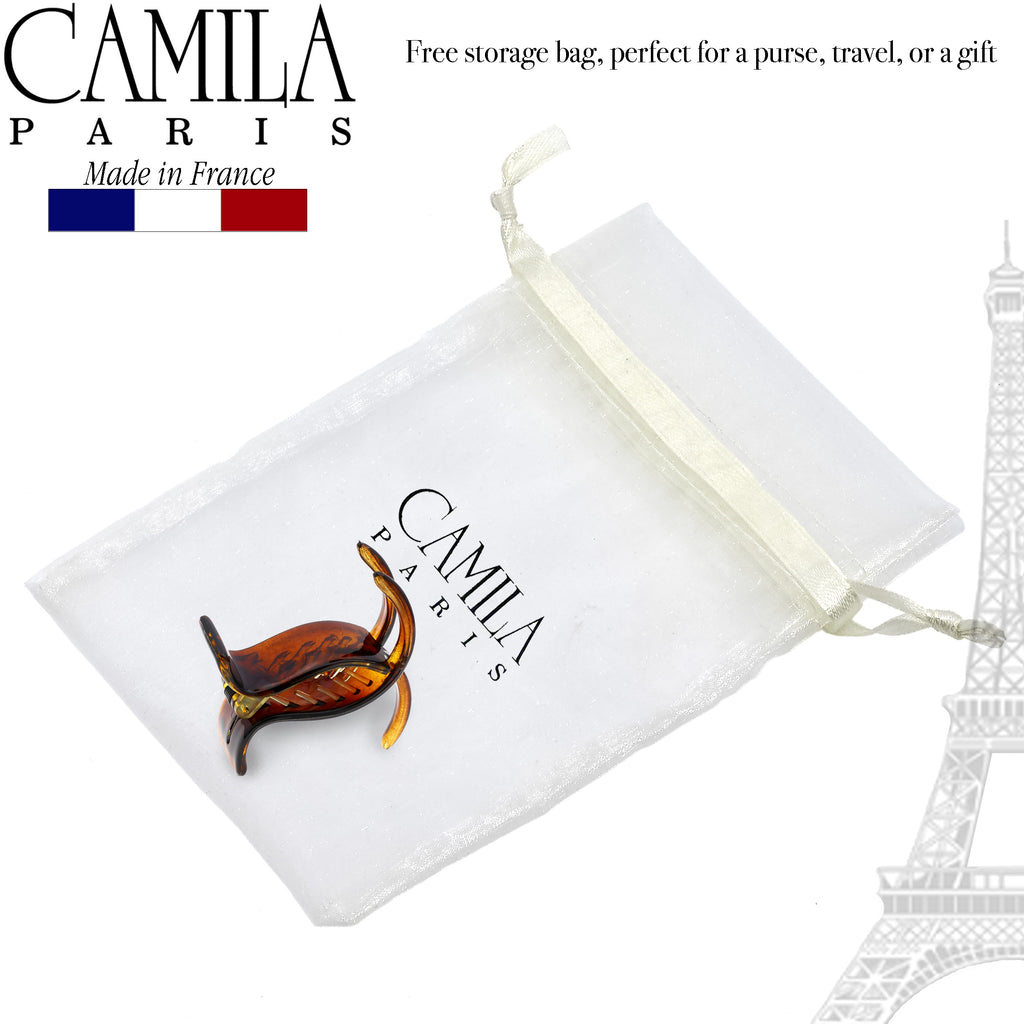 Camila Paris CP2559 2 Inch Small White Women's French Hair Clip Claw Ponytail