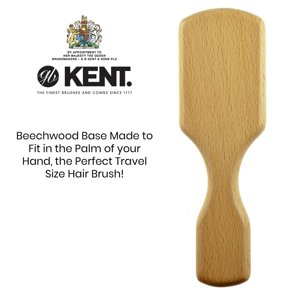 Kent OG4 Men Rectangular Club. 100% Pure White Bristle Hair Brush.