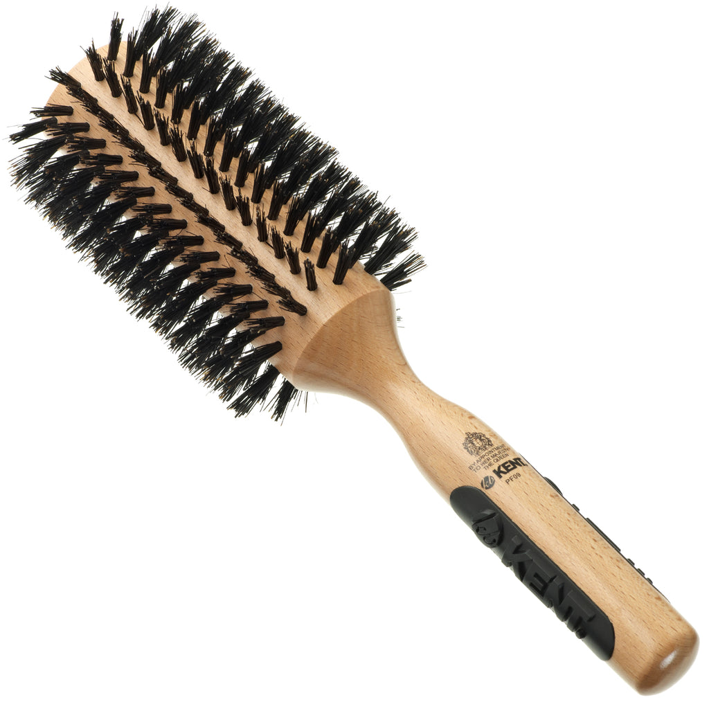 Kent PF09 68mm Round Curling Hair Brush with Hard Natural Boar Bristle