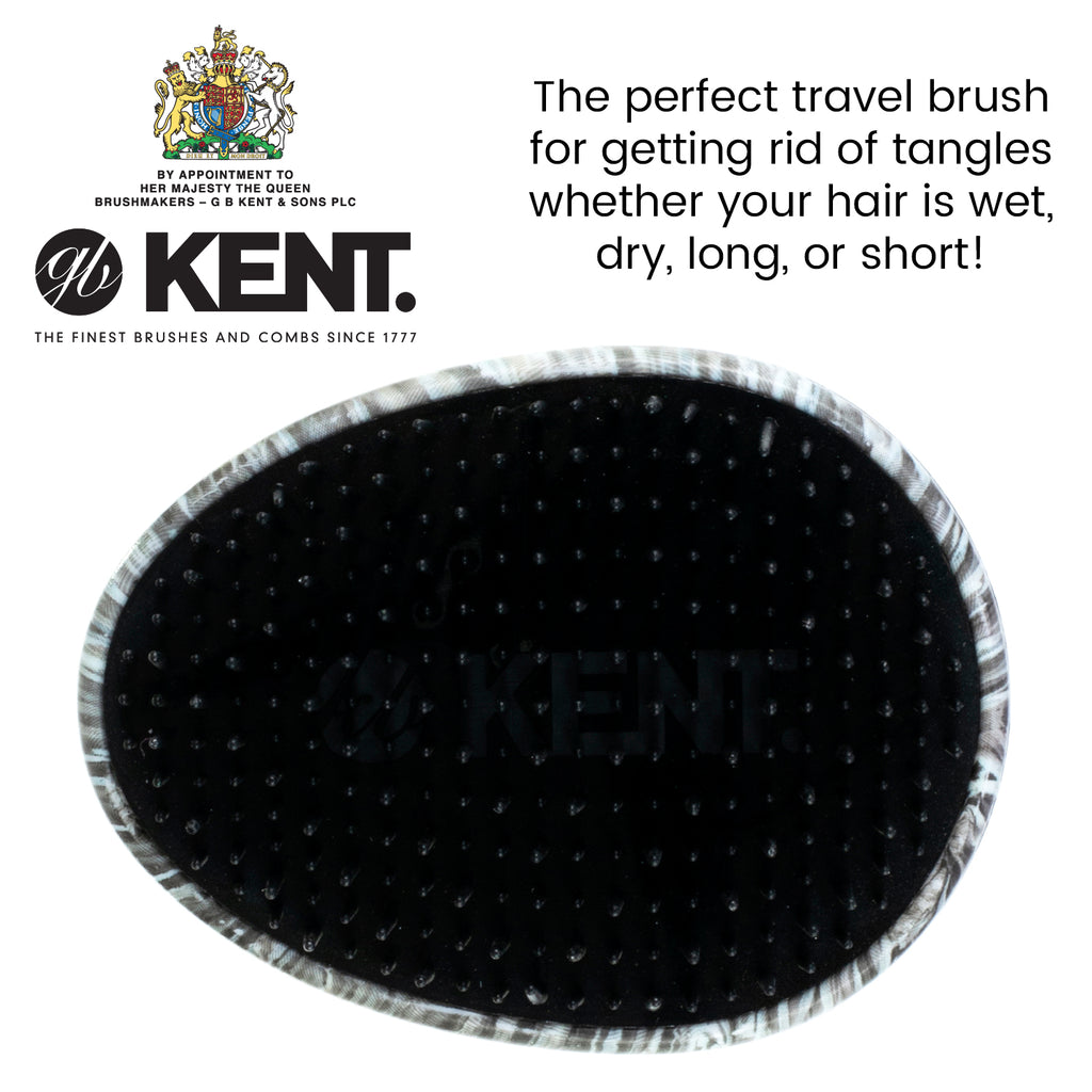 Kent Pebble Ladybug Shampoo & Scalp Massage Detangler hair brush
