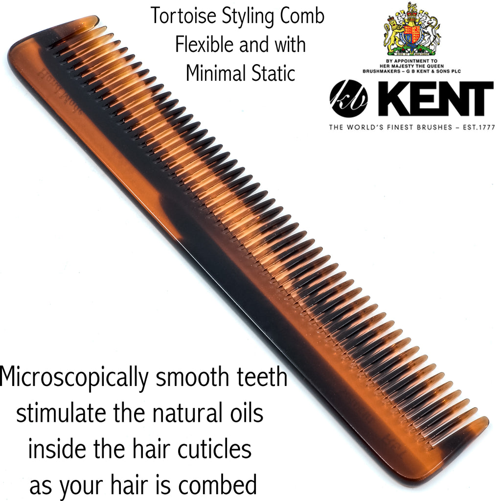 Kent R5T 6.5 Inch Handmade Wide Teeth Comb for Thick Curly Wavy Hair