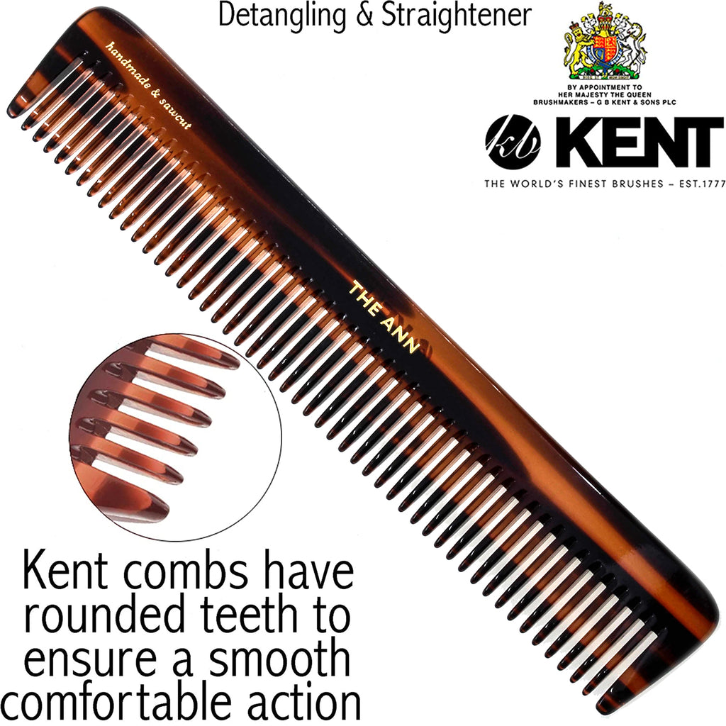 "Kent R5T 6 1/2"" 175mm Handmade Comb Coarse Toothed Dressing Table. Sawcut"