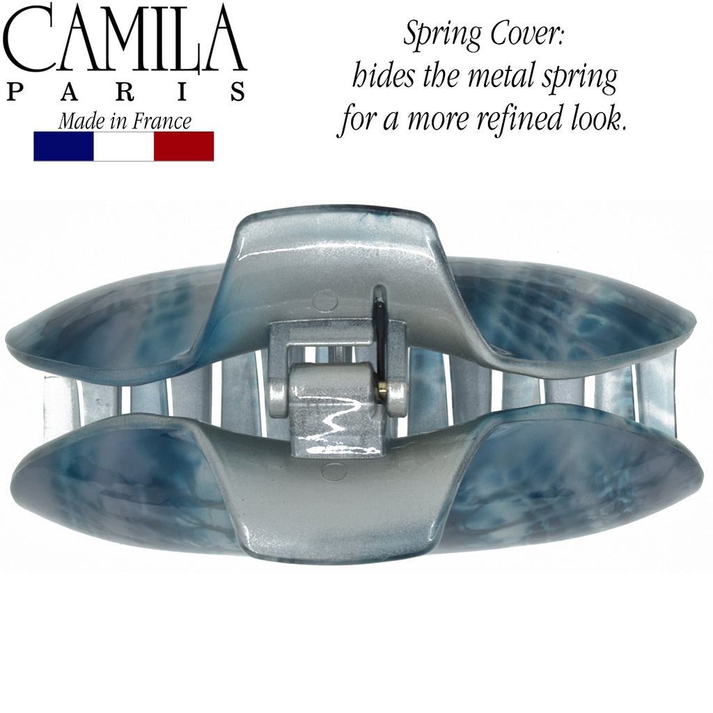 Camila Paris CP1015 Volume Blue French Hair Clip Claw No Slip Grip