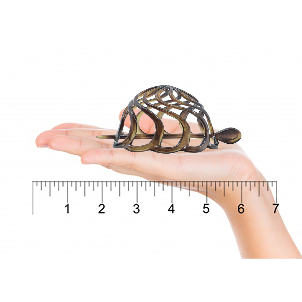 Camila Paris CP16 Tortoise French Hair Bun Cover Cap Holder Round