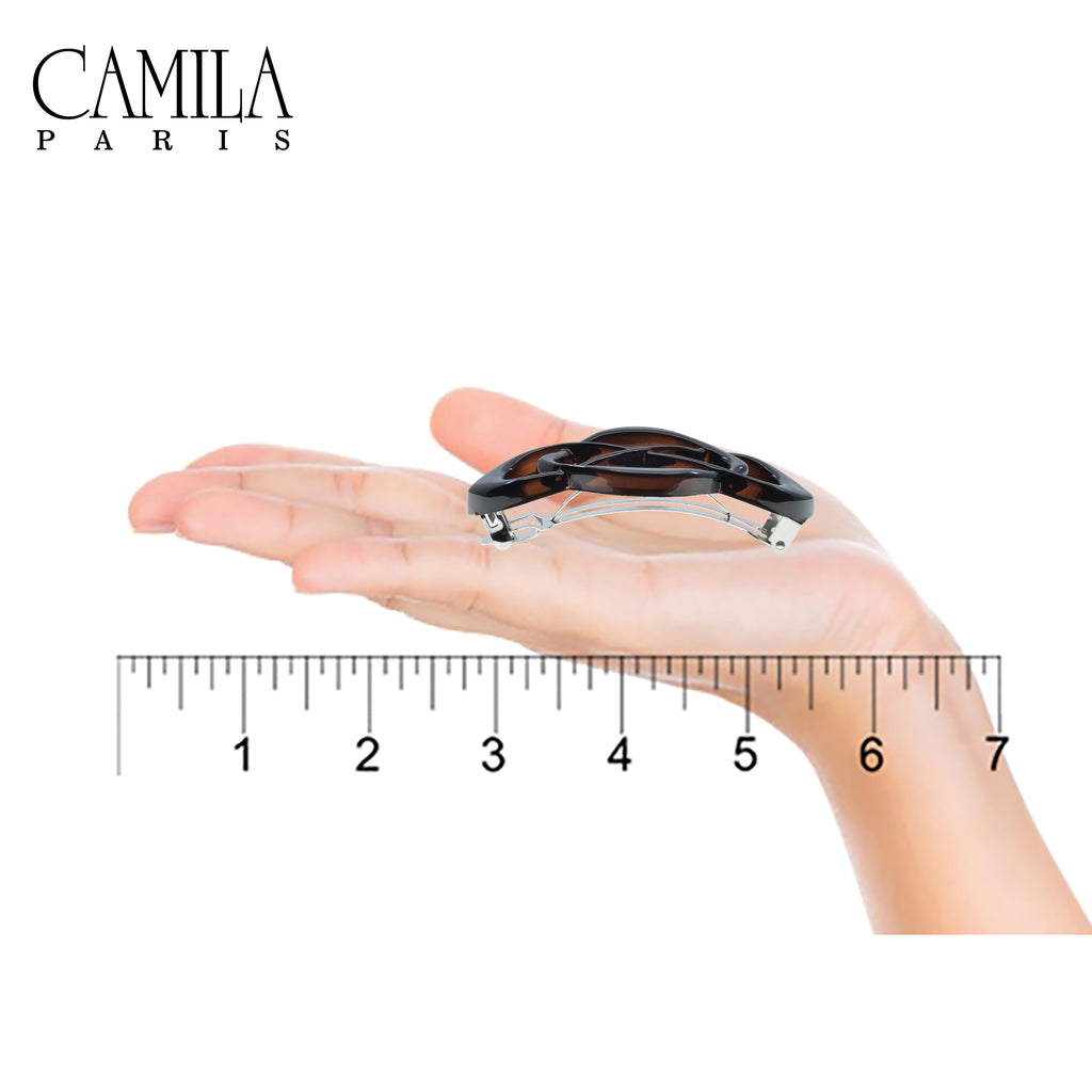 Camila Paris CP2425 Tortoise French Hair Barrette Automatic Clasp