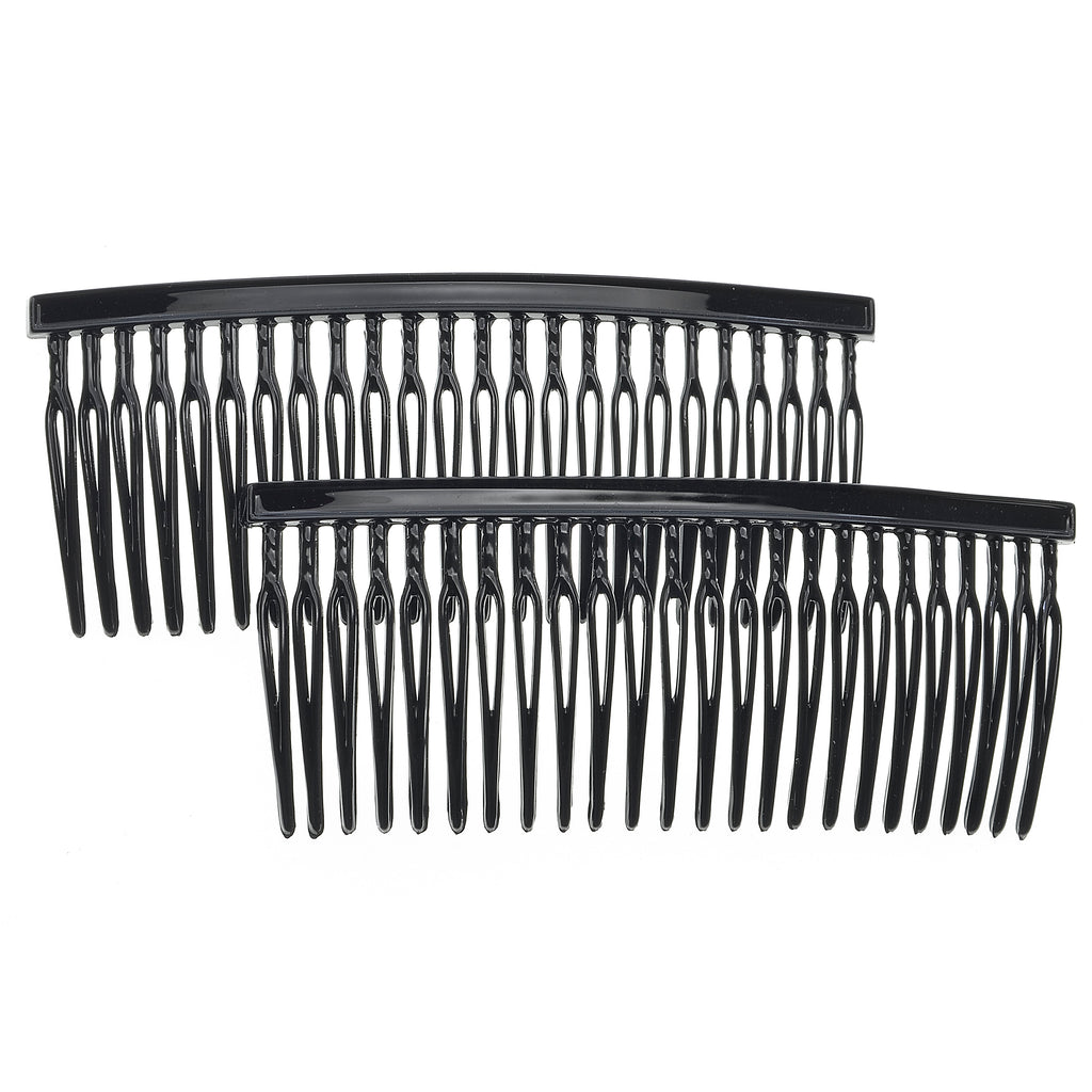 Camila Paris CP835-2 Classic French Hair Side Comb for Women, Black