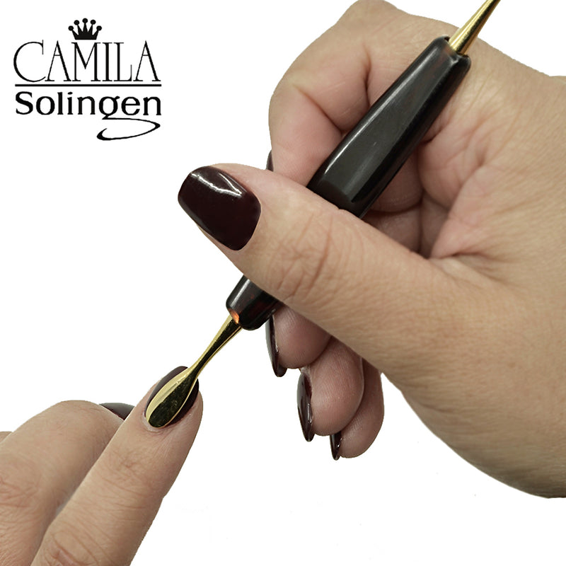 "Camila Solingen CS20 4 1/2"" Professional two-sided Nail Cuticle Remover Cleaner and Pusher. Manicure / Pedicure Tool for Fingernails and Toenails. Made in Solingen, Germany of Durable Stainless Steel"