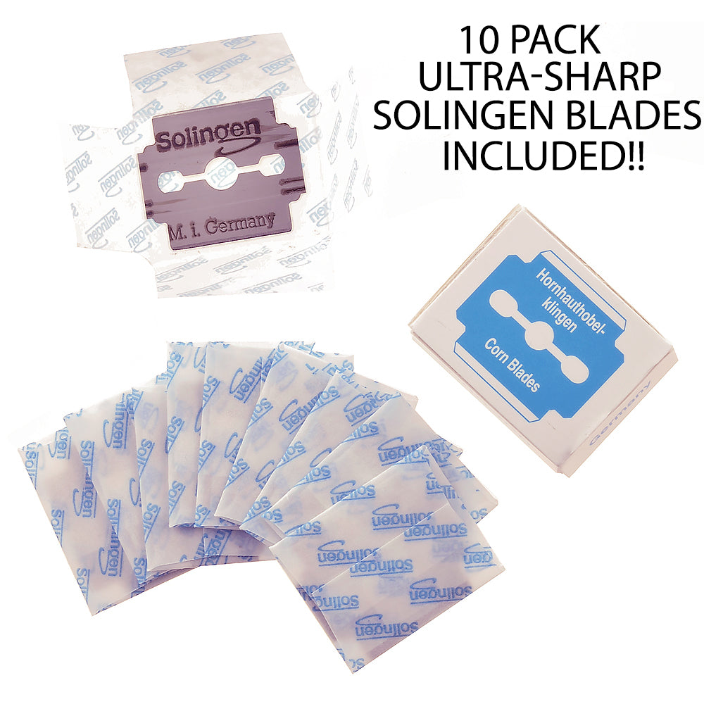 Camila Solingen CS23 Spare Blades (10 Pack) for Foot Callus Remover