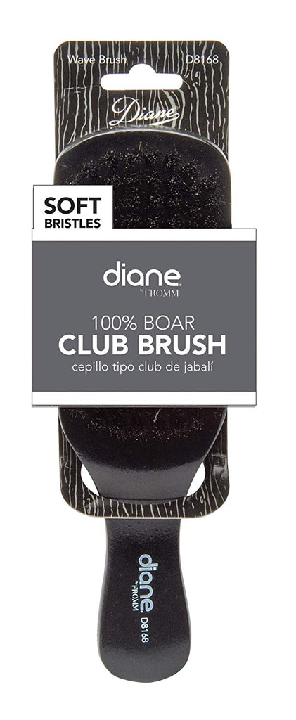 Diana D24 Black Wood Extra Soft Pure Bristle Club Hair Brush