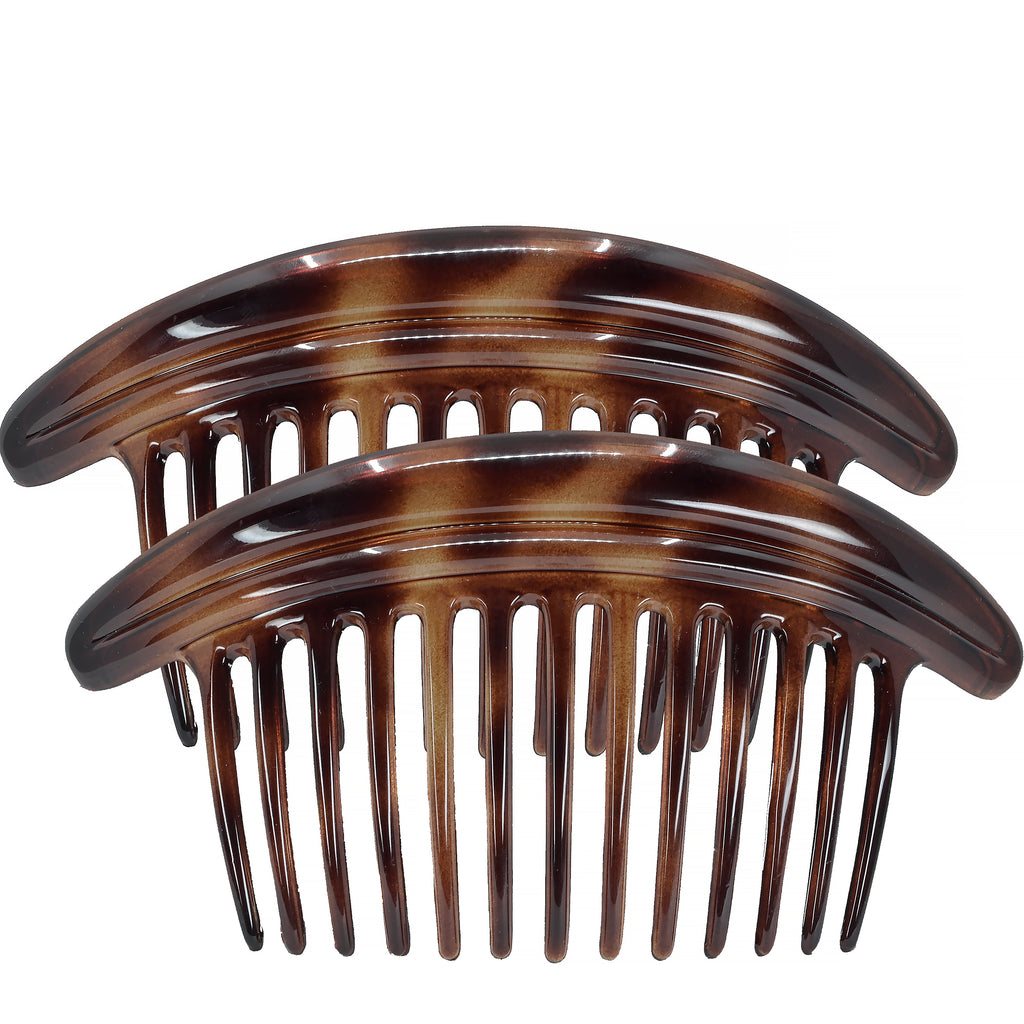 Camila Paris MP979-2 Tortoise Shell French Hair Side Comb Interlocking