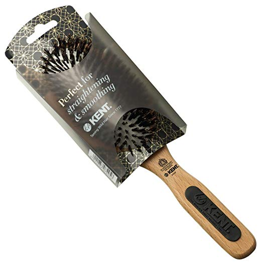 Kent NS07 / PF07 Natural Shine Large Rubber Cushion Pure Bristle Hair Brush Hair Brushes