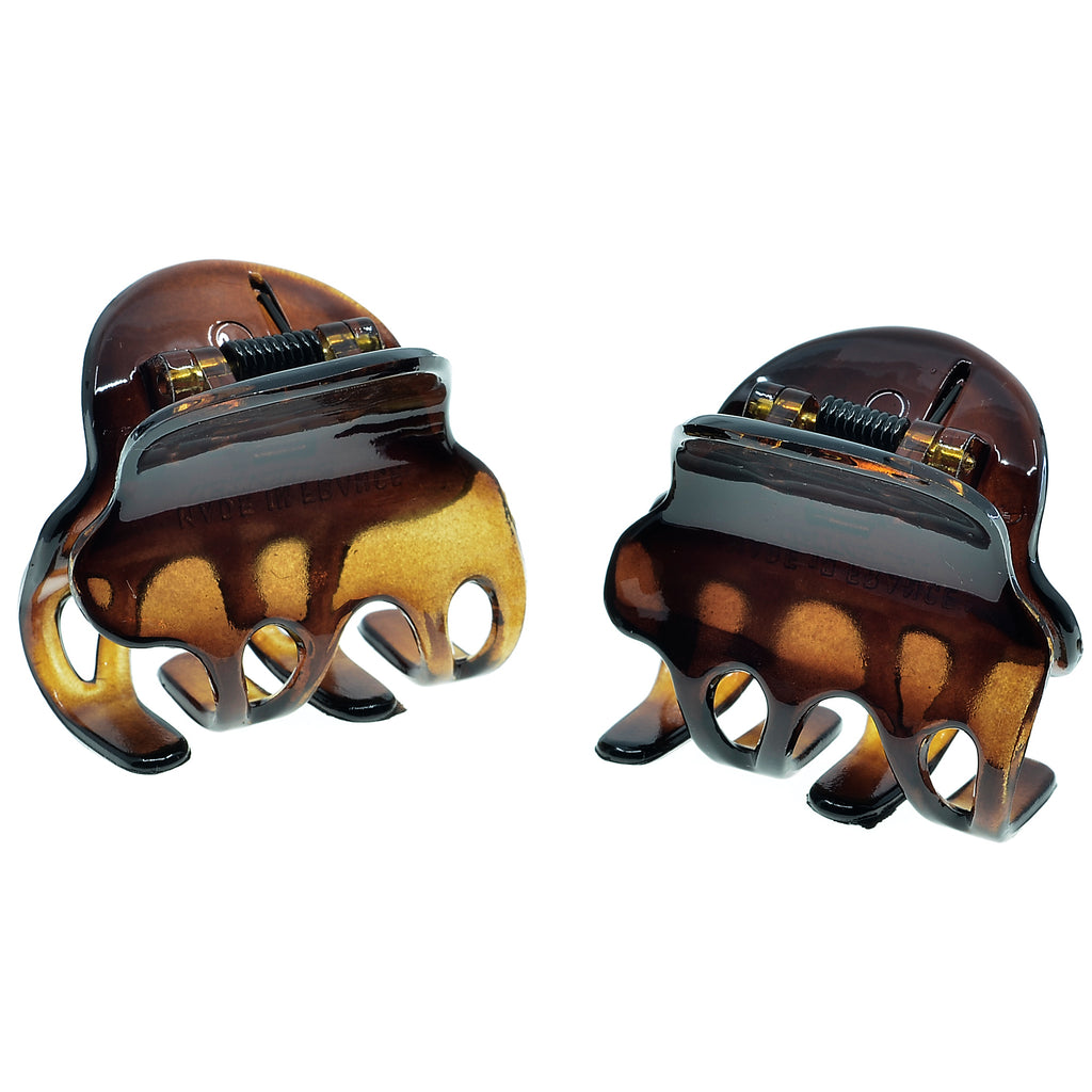 Camila Paris NV36 Set of 2 Small Tortoise French Hair Clip Claw
