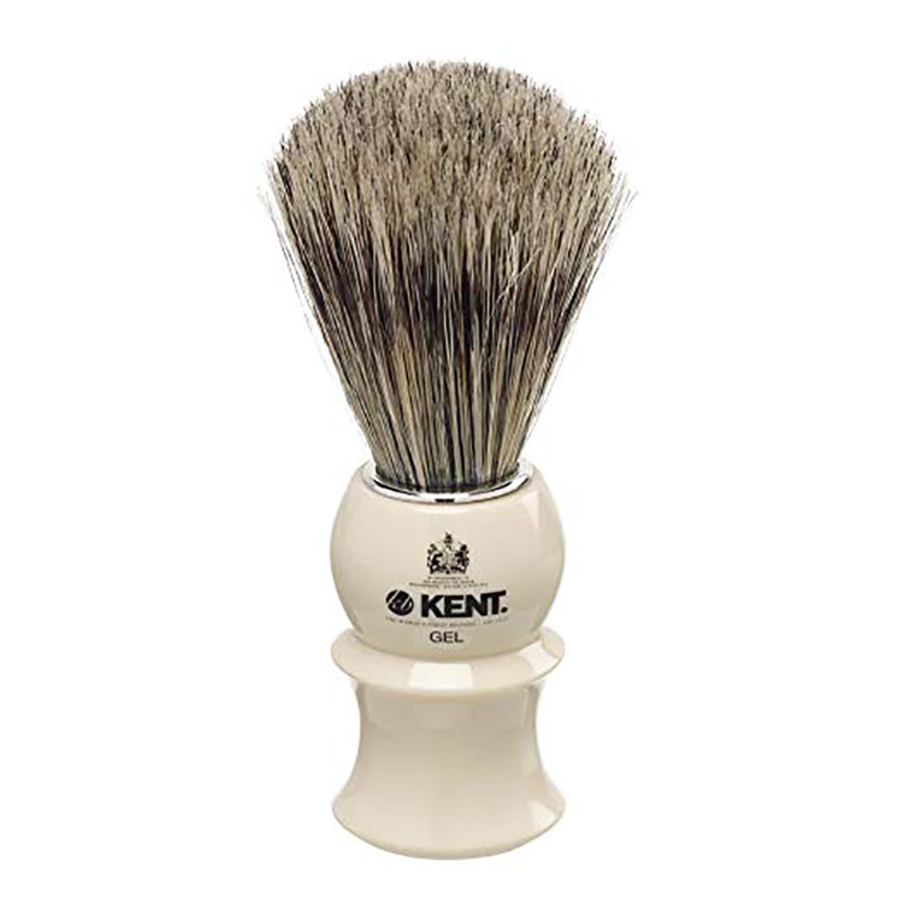 KENT VS10 Shaving Brush Ivory Barrel with Natural Boar Bristle. Shaving Brush
