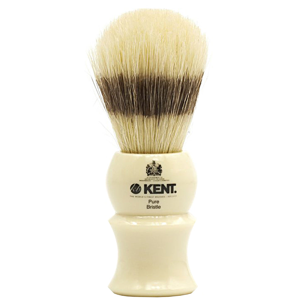 Kent VS30 Visage Shaving Brush. White socket, Pure Bristle, badger effect. Shaving Brush
