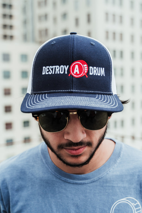 Destroy A Drum Navy Trucker Cap
