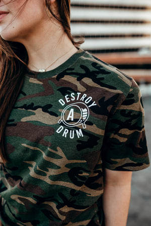 Destroy A Drum Camo Tee