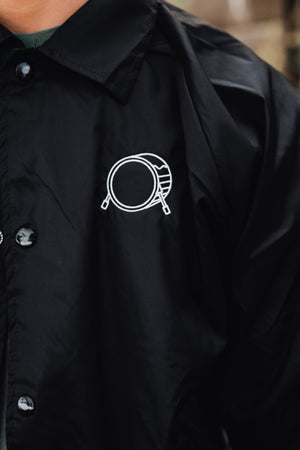 Embroidered Signature Logo Destroy A Drum Windbreaker