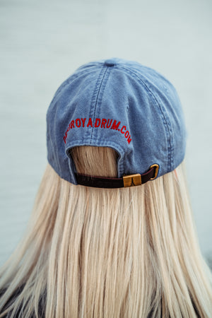 Destroy A Drum Leather Strapback Blue Cap