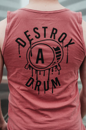 Box Logo Destroy A Drum Red Muave Tank