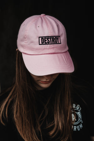 Box Logo Leather Strapback Pink Cap