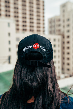 Embroidered Signature Box Logo 5 Panel Cap