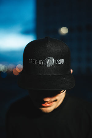 Embroidered Stealth Destroy A Drum Snapback