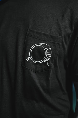Signature Logo Black Pocket Tee