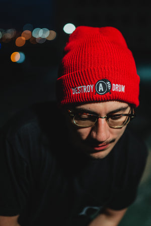 Embroidered Destroy A Drum Beanie