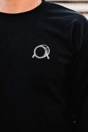 Embroidered Signature Logo 3D Black Long Sleeve