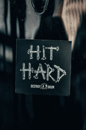 HIT HARD Sticker