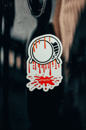 HIT HARD Puddle Sticker
