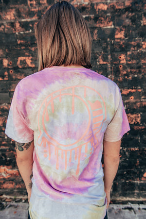 1 OF 1 Embroidered Signature Drip Logo Tie-Dye Tee