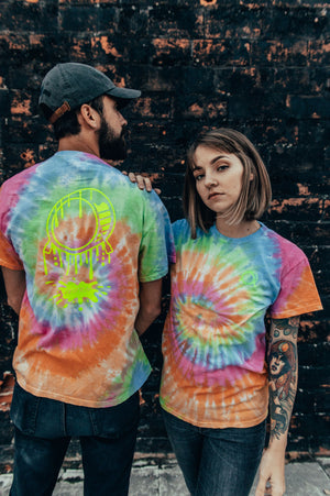 1 OF 1 Embroidered Destroy Puddle Tie-Dye Tee