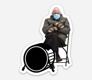 Bernie Destroys Sticker