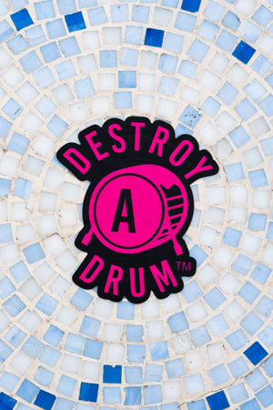 Destroy A Drum Large Pink Decal