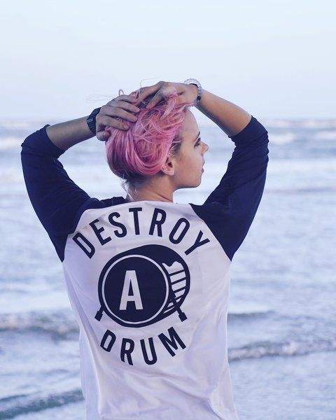 Destroy A Drum Dri-Fit Black Baseball Tee