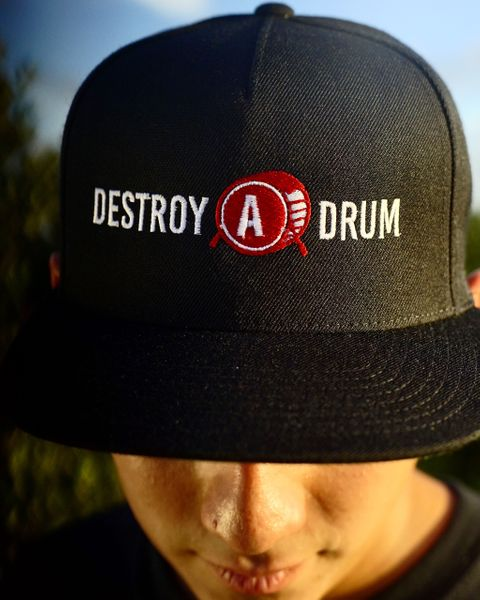 Destroy A Drum Black Snapback