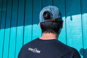 Destroy A Drum Leather Strapback Denim Cap