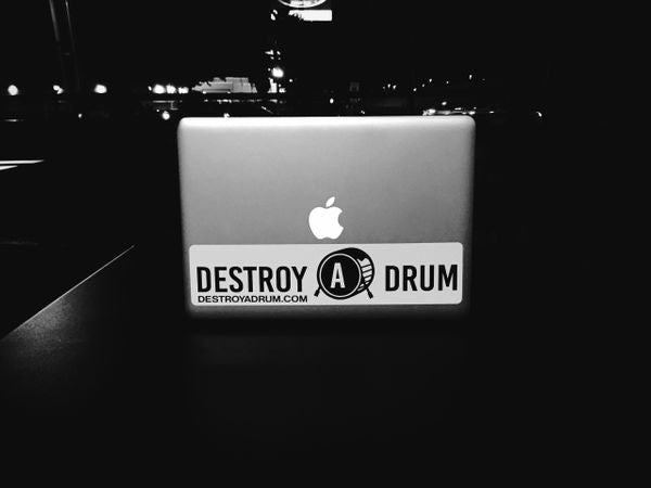 Destroy A Drum Small Decal