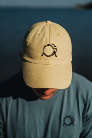 Embroidered Signature Logo Leather Strapback