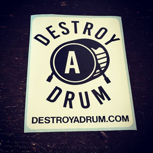 Destroy A Drum Square Decal