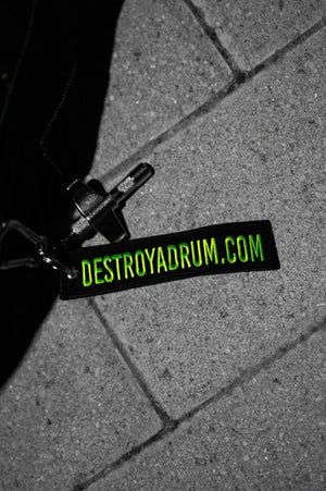 Destroy A Drum Key Tag