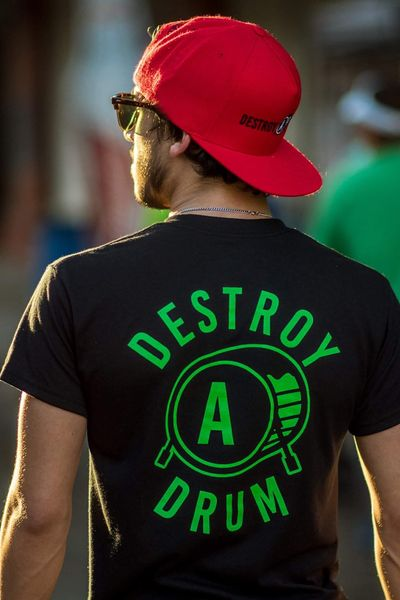 Destroy A Drum Lucky Green Tee